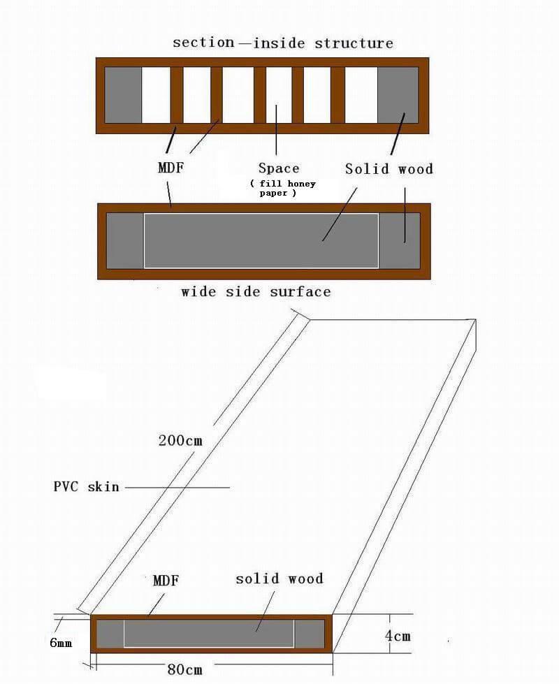 Wooden Door Structure Aluminum Sliding Window Casement