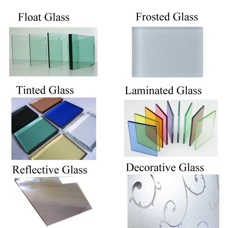 Different Glass Types Aluminum Sliding Window Casement Window Upvc