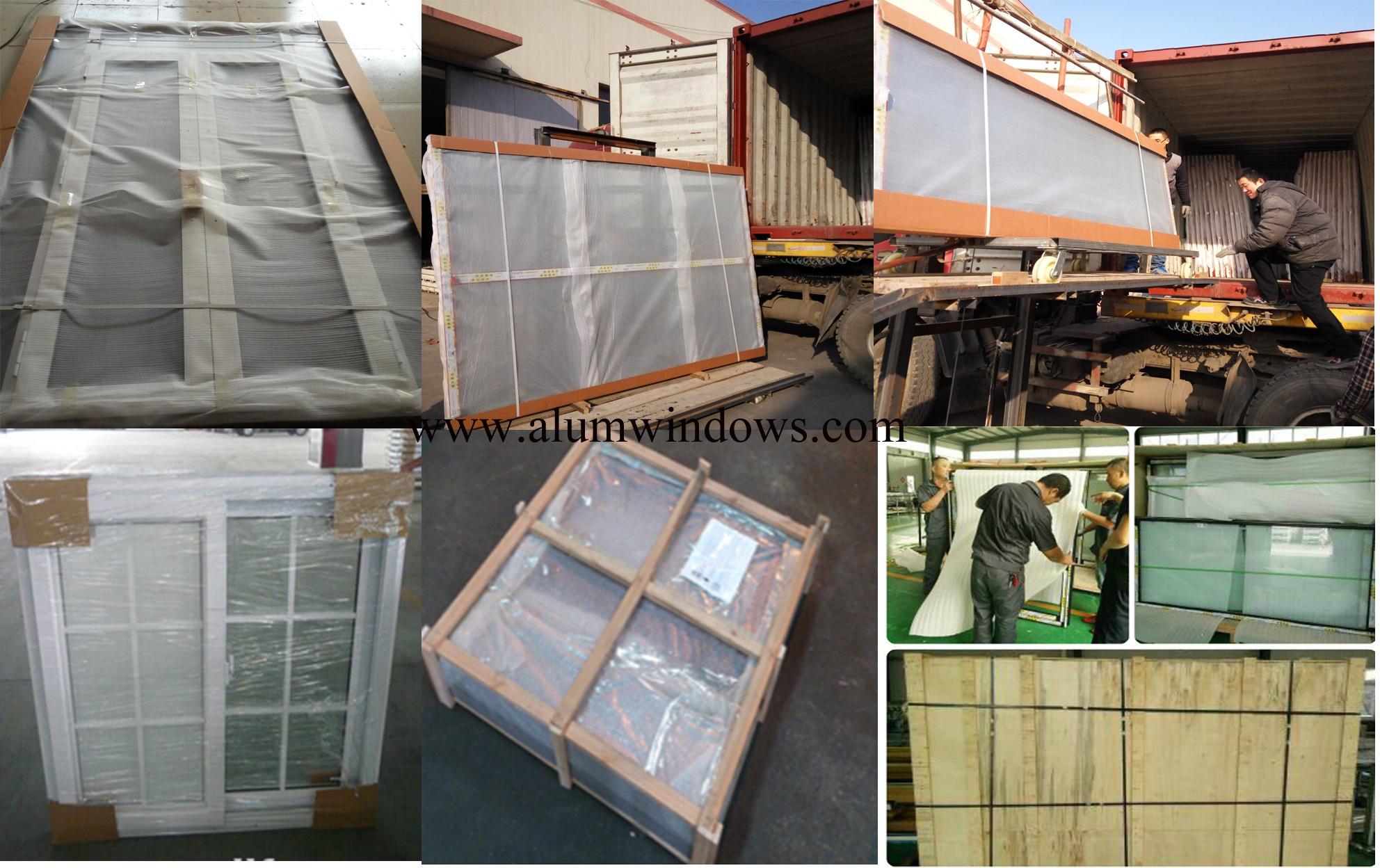 Packing 221 Aluminum Sliding Window Casement Window Upvc