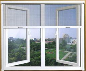 Retractable screen aluminum sliding window casement for Vertical retractable screen
