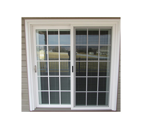 Aluminum Sliding Door With Grid Aluminum Sliding Window