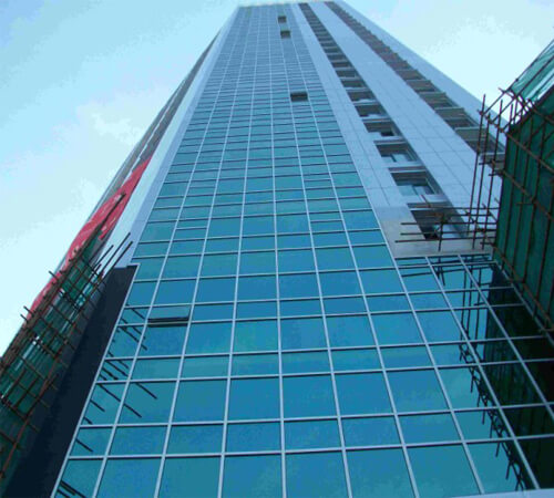 Aluminum Curtain Wall : Aluminum curtain wall system for high rise building
