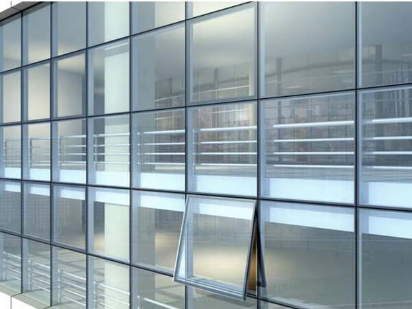 Aluminium curtain wall system aluminum sliding window Opening glass walls
