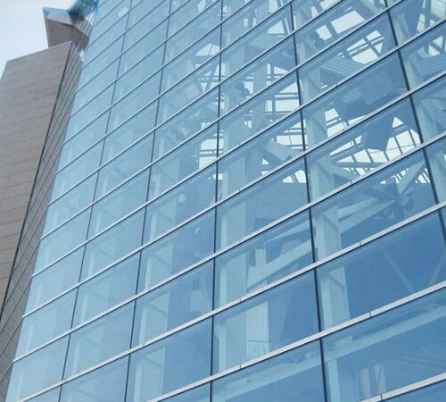 Aluminum Curtain Wall System For High Rise Building